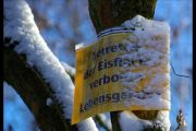 Gefahren auf Eisflächen